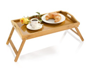 Folding Laptop Bed Tray Wooden Breakfast Serving Tray Table