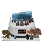 Stand Up Game of Thrones Cake Scene Premium Edible Wafer Paper Cake Toppers - Easy to Use