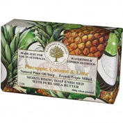 Australian Soapworks Wavertree & London 200g Soap Set of 4 - Pineapple, Coconut & Lime