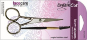 Brow Scissors / Moustache-surgical Stainless Steel with Brush