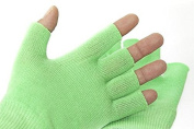Best Gel Cotton Moisturising Gloves Touch Screen - Wear at Night - Improves Dry Skin and Cracked Hands Fast - Anti Ageing Hand Treatment - Gel Lining Infused with Essential Oils and Vitamins - High Quality Cotton
