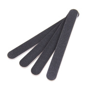 Professional Double Sided Nail Files Emery Board Grit Manicure Set Black Pack of 10pcs
