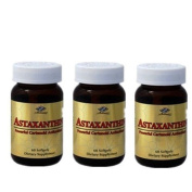3 x Astaxanthin 10 mg 60 SGels Powerful Cartenoid Antioxidant, FRESH by Nu-Health