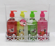 Fruit Scented Shower Gel Gift Set - Cherry, Lemon, Kiwi, Strawberry in a Wire basket