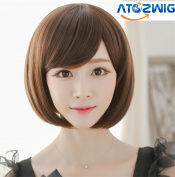 ATOZ Hair ® Lolita Cosplay Wig Party Women Fashion Short Straight Costume Synthetic Hair Sexy Bob Wigs
