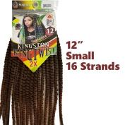 Kingston King Twist 5.1cm x 30cm Small 16 Strands Braiding Hair Crochet Synthetic Majesty