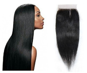 TOP GRADE 7A UNPROCESSED VIRGIN BRAZILIAN YAKI STRAIGHT HAIR 10cm x 10cm TOP CLOSURE [25cm ~36cm ]