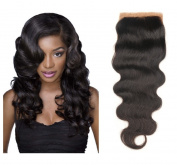 TOP GRADE 7A UNPROCESSED VIRGIN BRAZILIAN BODY WAVY HAIR 10cm x 10cm TOP CLOSURE [25cm ~36cm ]