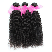 Allove Hair 8A Grade Brazilian Kinky Curly Hair 3 Bundles 10 12 36cm Virgin Human Hair Extensions Wave Bundles Natural Colour Can Be Dyed and Bleached