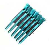Tmarton 12Pcs Blue Salon Metal Hairdressing Sectioning Dividing Duck Bill Clips Clamp Hair Styling Clips Hairpin