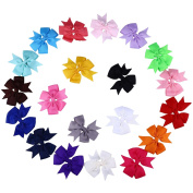 Molain Headbands Hair Bows with Clip for Baby and Girls 20 Colours(20 PCS)