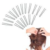 GEOOT Black Hair Pin Crink U Shaped 6.4cm