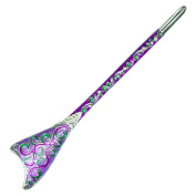 Fashion & Lifestyle Hair Decor Chinese Traditional Style Hair Sticks Shawl Pins Picks Pics Forks for Women Girls Hair Updo Making Accessory 15cm with Vintage Pattern,Purple