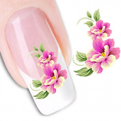 Ottery Seductive Flowers Nail DIY Art Stickers Water Transfers Decals Nail Art Sticker Tip Decal Manicure