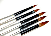 KADS 100% Kolinsky Sable acrylic brush 5pcs/SET size 2#/4#/6#/8#/10#.acrylic brush black kolinsky sable acrylic nail brush