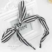 Akak Store Fashion Stripes Style Bowknot Headbands Butterfly Bow Knot Adjustable Hair Hoop Rabbit Ears Headband for Women Girls Teens