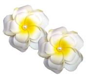Geoot Life-Like Foam White Flowers Hair Barrette