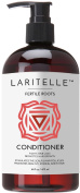 Laritelle Organic Conditioner 470ml | Fortifying, Strengthening & Rejuvenating | Stops Hair Shedding, Promotes New Hair Growth | Ayurvedic Herbs, Lavender, Ginger, Rosemary, Patchouli & Cloves | NO GMO, Sulphates, Gluten, Alcohol, Parabens, Phthalates