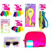 Dora the Explorer Yellow Hair Brush and Comb Hair Ties and Elastic Hair Bands - Sunglasses - Body Jewellery Tattoo
