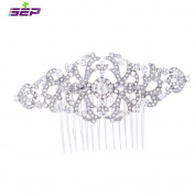 SEP Clear Rhinestone Crystals Hairpins Vintage Women Hair Combs Bridal Wedding Hair Jewellery Accessories FA5049CLE