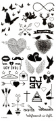 GGSELL Waterproof and non toxic Butterflies,hearts,arrows,cupid,wings,I LOVE YOU,wings temporary tattoos