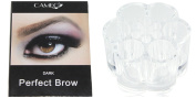 Cameo Cosmetics Perfect Brow- Dark Brown Eyebrows with Clear Acrylic Flower Cosmetic Organiser