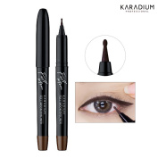 [KARADIUM] 1.5 Round Tip Full Moon Dot Eyeliner 1g / Easy to Draw Thin to Thick Line - 2 Colours