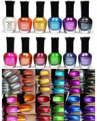 12-Pcs Popular Beauty Full Size Effect Metallic Nail Polish Colours