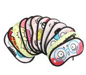 Ewandastore 4PCS Cute Cartoon Funny Novelty Face Sleeping Eye Mask Cover Travel Shades Blindfold