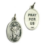 Archangel Gabriel Protect Protection Medal Pendant Charm Pray for Us Made in Italy Silver Tone Catholic 1.9cm