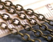 3m Antique Bronze Chain- Lead & Nickel Free- Open Cable Links