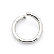 Packet of 100+ Silver Stainless Steel 1.2 x 6mm Jump Rings - (Y01945) - Charming Beads