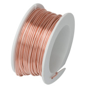 Artistic Wire, Silver Plated Craft Wire 22 Gauge Thick, 8 Yard Spool, Rose Gold Colour