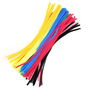 Cosmos ® 100 PCS Assorted Colours Pipe Cleaners Chenille Stem, 0.6CM x 30CM