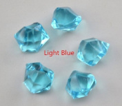 Sharing Star Acrylic Ice Rock Crystals Treasure Gems for Table Scatters, Vase Fillers, Event, Wedding, Birthday Decoration Favour, Arts & Crafts (Light Blue)