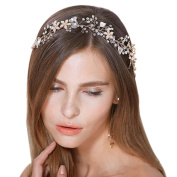 FAYBOX Bridal Vintage Crystal Pearl Hairbands Wedding Hair Accessories