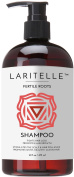 Laritelle Organic Shampoo 470ml | Fortifying, Strengthening & Rejuvenating | Stops Hair Shedding, Promotes New Hair Growth | Ayurvedic Herbs, Lavender, Ginger, Rosemary, Patchouli and Cloves | NO GMO, Sulphates, Gluten, Alcohol, Parabens, Phthalates.