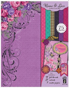 Hot Off the Press Rose & Lace Foiled & Die Cut Artful Card Kit 7288