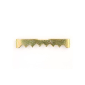 Nailess Brass Finish Sawtooth Picture Hangers - Pack of 100