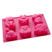 X-Haibei Forest Animals Gathering Baby Soap Crayon Making Silicone Mould Cake Jello Chocolate Supplies
