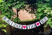 Bride to Be Wedding Banner Bride Garland Wedding Sign Photo Prop Wedding Party Decoration