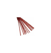Craft Factory CF117 | Red Chenille Glittery Pipe Cleaners | 6mm x 30cm | 20 pack
