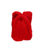 Trimits FW10.317 | Red Natural Wool Roving | 10g Bag