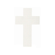 Cross-Shaped Plastic Canvas - 7.6cm