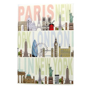 A6 Writing Doodle Book - . Cities- 48 Pages - 6 X 4 - by Quire