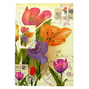 A6 Writing Doodle Book - Tulips - 48 Pages - 6 X 4 - by Quire