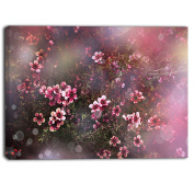"Designart PT6505-271 4 Panel ""Sakura Japanese cherry Photography Floral"" Canvas Print, Pink, 120cm x 70cm"