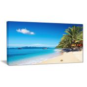 "Designart PT7003-100cm - 50cm Tropical Beach Thailand Photography"" Canvas Print, Blue, 100cm x 50cm"
