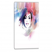 "Designart PT6685-80cm - 100cm Beautiful Girl Portrait Digital Portrait Art On"" Canvas, Purple, 80cm x 100cm"