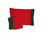 Baby Doll Holiday Crib and Toddler Bed Sheet Set, Red/Green